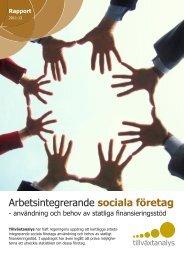 Arbetsintegrerande sociala företag - Tillväxtanalys