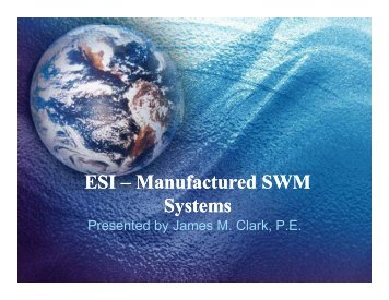 (Microsoft PowerPoint - ESI \226 Manufactured SWM Systems ...