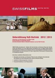 Richtlinien VoD-Vertrieb - Swiss Films