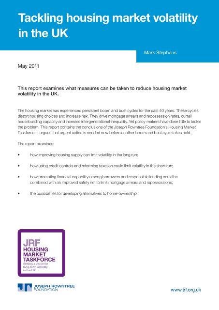 Tackling housing market volatility in the UK - Joseph Rowntree ...