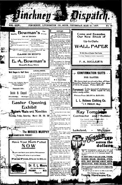 03-21-1907 - Village of Pinckney
