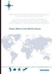 Plastic Debris in the World's Oceans - Greenpeace