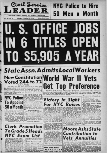 World War II Vets Get Top Preference - University at Albany Libraries