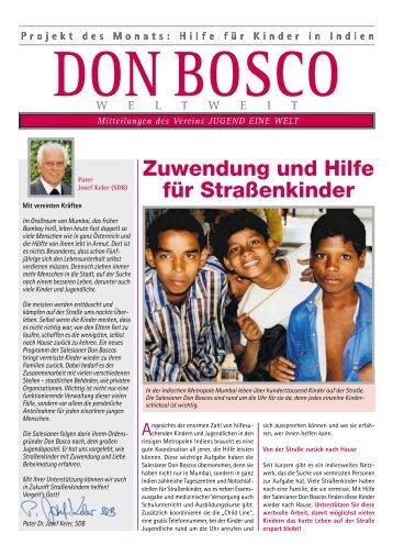 Projekt des Monats: Hilfe für Kinder in Indien - Don Bosco Mission