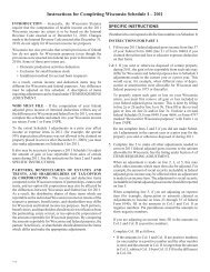 2011 I-128 Instructions for Completing Wisconsin Schedule I