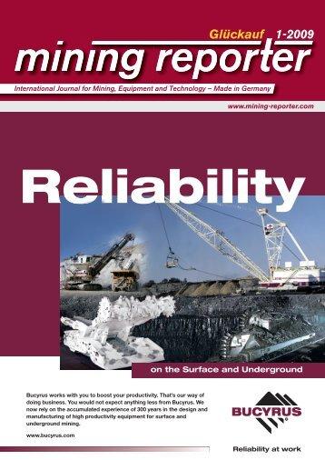 Glückauf 1-2009 uf 1 Glückauf 1 2009 - Mining Reporter