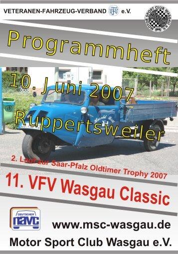 können Sie im Programmheft stöbern - Motor Sport Club Wasgau e.V.