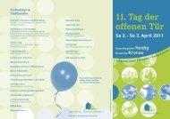 11. Tag der offenen Tür - Gemeinde Kronau
