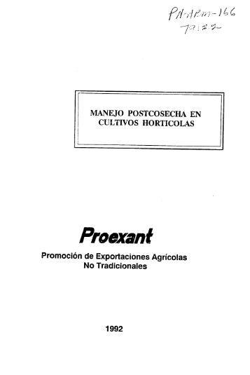 manejo postcosecha en cultivos - (PDF, 101 mb) - USAID