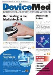 Für sterile/ aseptische Anwendungen Dosierventil ... - DeviceMed.de