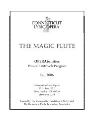 Here's - Connecticut Lyric Opera