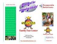 Corporate Events Brochure - Scandia Family Fun Center