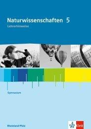 Hinweise Naturwissenschaften 5 RPF (PDF ... - Ernst Klett Verlag