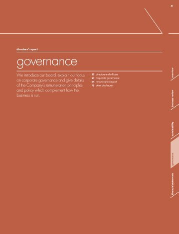 Rexam annual report 2010 - Governance