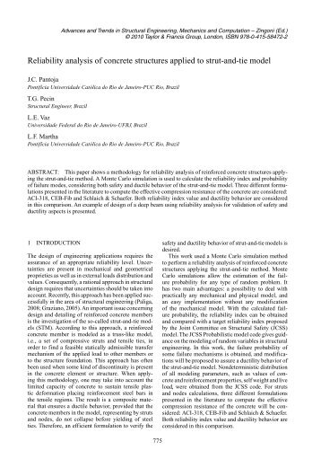 strut and tie models pdf