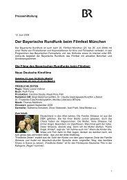 Der Bayerische Rundfunk beim Filmfest München
