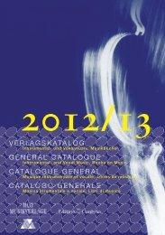 2012/13 - bei Hug Musikverlage