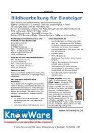 Bildbearbeitung für Einsteiger - HomePages für Einsteiger ...