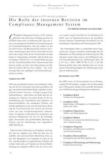 Compliance Management Kompendium 02/2011