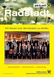 aktuell - Raiffeisenbank Radstadt