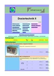 Dosiertechnik II