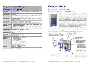 Compact L plus Compact-Serie - Herbert Saier GmbH