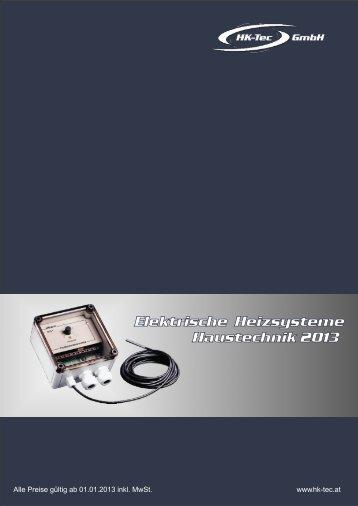 Elektrische Heizsysteme Haustechnik 2013 - HK-Tec
