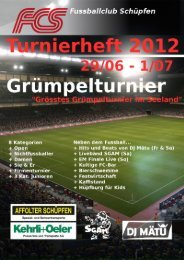 Turnierreglement - Grümpelturnier 2012 - FC Schüpfen