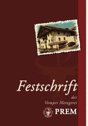 Festschrift Prem A5.indd - Metzgerei Prem