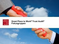 Great Place to Work® Trust Audit© Fokusgruppen