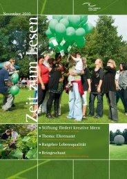 Thema: Ehrenamt - Paul-Riebeck-Stiftung zu Halle