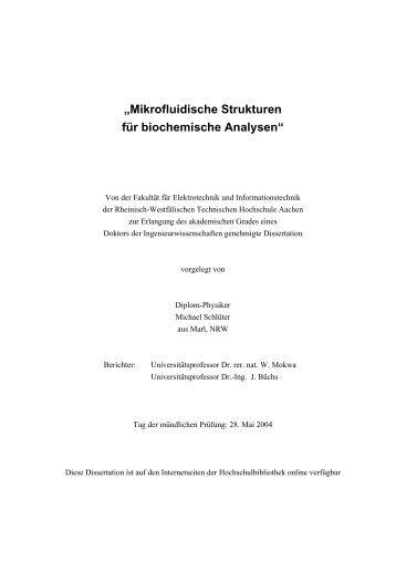 Dissertation rwth aachen