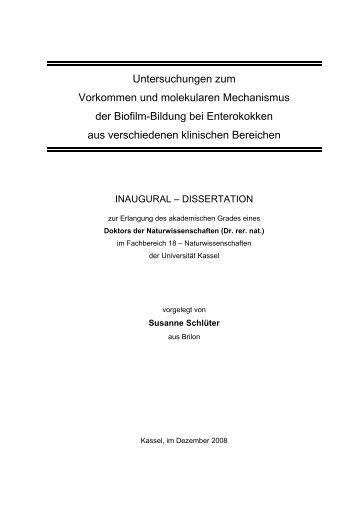 Untersuchungen zum Vorkommen und molekularen Mechanismus der