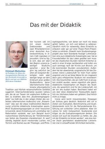 an deutschen Universitäten - Forschung & Lehre