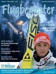 FLUGBEGLEITER - Das Magazin der Vogtland Arena - brand-aktuell