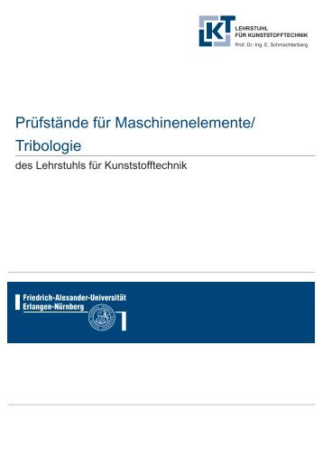 Prüfstand - Lehrstuhl für Kunststofftechnik