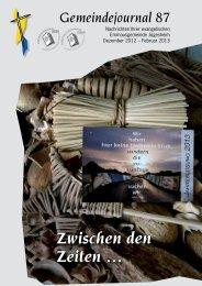 Gemeindejournal 87 - Emmaus Gemeinde Juegesheim