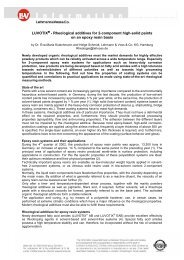 LUVOTIX - Rheological additives for 2-component high-solid paints ...