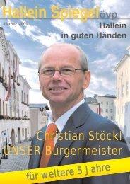 Hallein Spiegelövp - ÖVP Salzburg