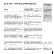 Bieler Chronik, 1960 (pdf, 123kB) - Stadtbibliothek Biel