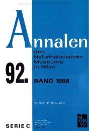 des naturhistorischen museums in wien 9 2 » band 1988/serie c