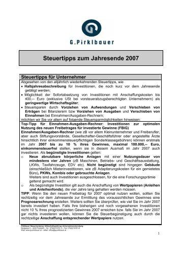 Steuertipps für Arbeitnehmer - Pirklbauer