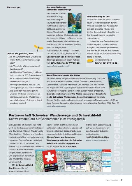 amirando - Schweizer Wanderwege