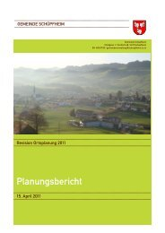 Planungsbericht - Gemeinde Schüpfheim