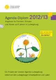 Agenda-Diplom 2012/13 - Stadt Ludwigsburg