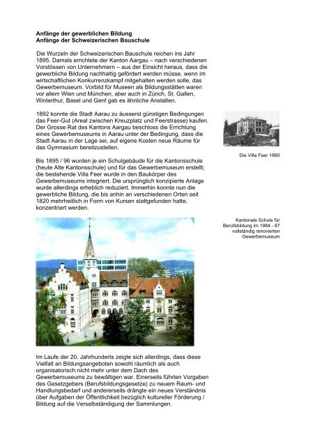 Geschichte Bei Der Schweizerischen Bauschule Aarau Sba