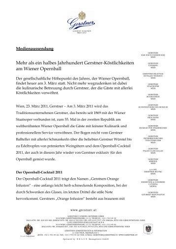 Der Wiener Opernball 2011 - Gerstner