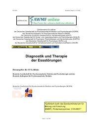 Diagnostik und Therapie der Essstörungen - AWMF