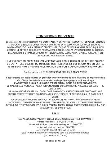 CONDITIONS DE VENTE - Interencheres.com