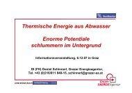 Thermische Energie aus Abwasser Enorme ... - Grazer Energieagentur